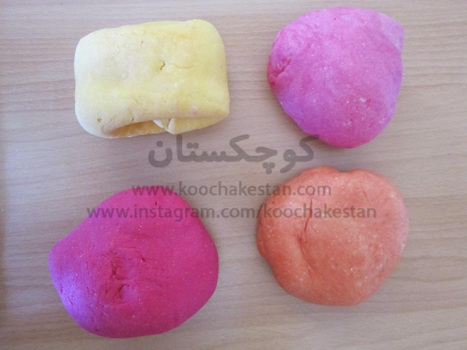 طرز تهیه ی خمیر بازی خانگی برای کودکان - خمیر نهایی تهیه شده